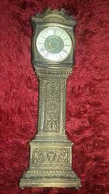 Beautiful vintage/antique Paico Table Clock In the Shape of A Grandfather Clock