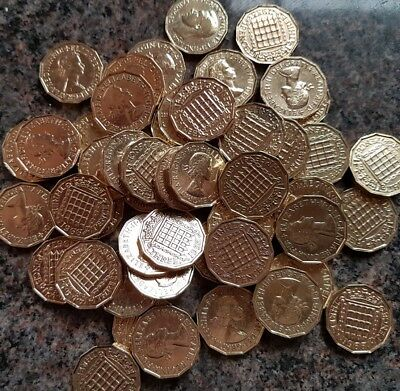 British Brass Threepence Coins 3d - Choose your date from list. Just 50p postage