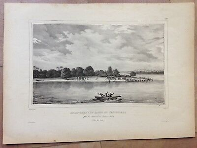 Tongatapu Island (Pacific) 1833 By Dumont D'urville Large Antique Lithography