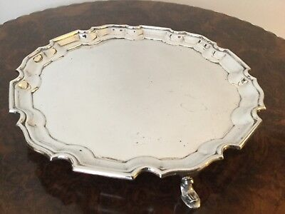 Solid Sterling Silver Card Tray Salver Mappin & Web Sheffield 1961
