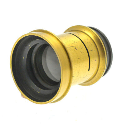 Brass camera lens with aperture slot for Brass and Mahogany plate cameras