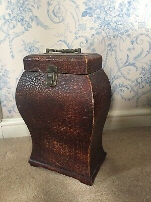 Vintage Bottle Box With Snakeskin Style Exterior