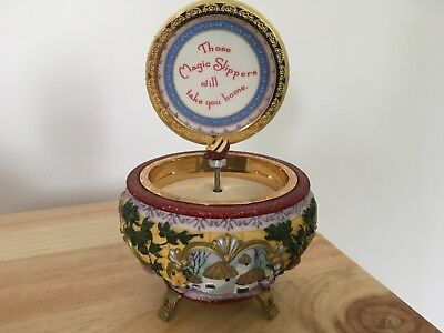Wizard of Oz Dorothy and Glinda Over the Rainbow Musical Trinket Box