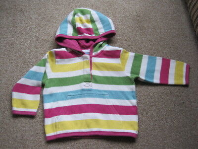 John Lewis 9-12 month baby girl pink white yellow green blue hoodie cardigan
