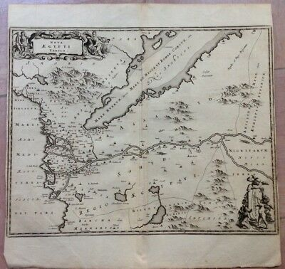 EGYPT RED SEA ARABIA 1676 Olfert DAPPER ANTIQUE COPPER ENGRAVED MAP 17e CENTURY