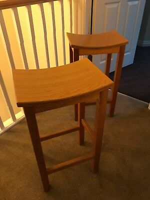 Pair of Kitchen Stools in oak - one off design