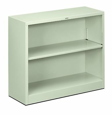 HON Metal Bookcase - Bookcase with Two Shelves 34-1/2w x 12-5/8d x 29h Light ...