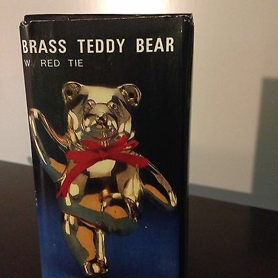 Vintage Solid Brass Teddy Bear Coat Hanger Hook Nursery - Cabin - Wall decor 7""