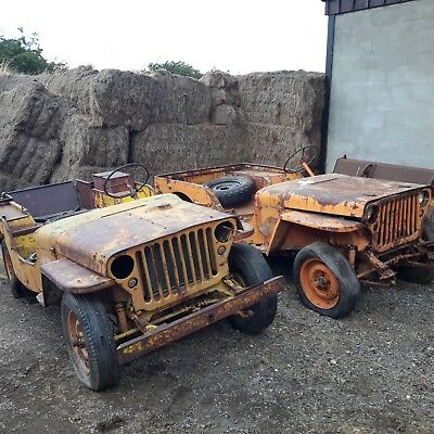Willys jeeps 1942 GPW ww2 military vehicle classic car barn find
