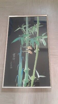vintage Chinese painting on silk signed