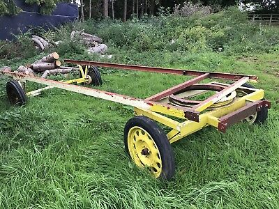 Gypsy caravan shepherds hut turntable 4 wheel trailer chassis