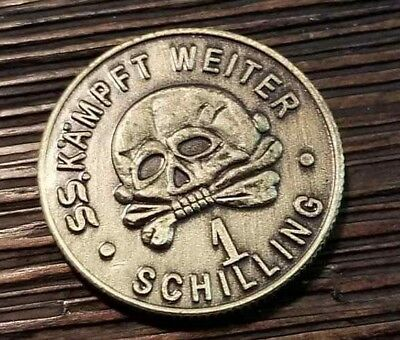 German Coin Military Bar money Elite Kantinegeld Coins collectors 1 schilling
