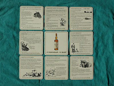 ★ Macallan ★ 10 Yo ★ 8 Bierdeckel - Coasters ★ 1997 ★ Scotch Single Malt Whisky
