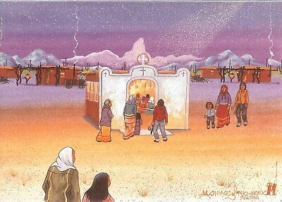 "12 Native American Holiday Cards, ""Christmas Eve"" by Michael Chiago"
