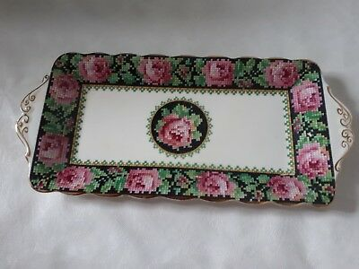 Vintage Royal Albert Needle Point Sandwich Tray Plate c1927 RARE