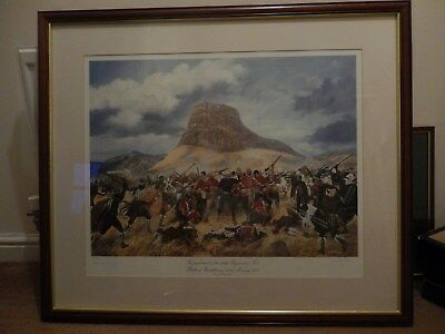 1879 Battle of Isandhlwana Final Stand of 24th Foot 1993 print by Simon Smith