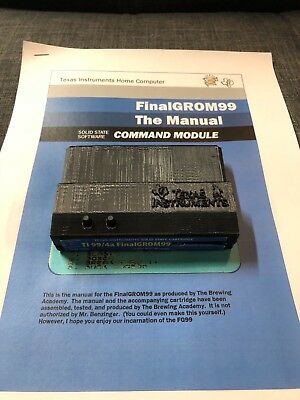 FinalGROM99 FG99 SD reader for TI 99/4a case manual NEW