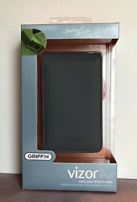 GRIFFIN Vizor Leather case Grey for Apple iPod video 60GB New