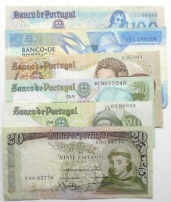 Portugal - 6 Different Banknotes - 1964 To 1988 - Vf - #2