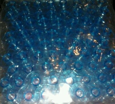 24 Plastic Blue Colour Bobbins (20mm x 10mm) to fit most Domestic Sewng Machines