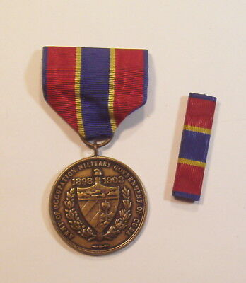 1898 U.S. Army of Occupation Cuba Campaign Medal & Ribbon