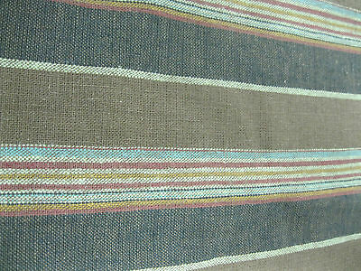 Vanguard Fabrics Pattern Rakesh Color Chocolate 4.7 Yd x 54 In Linen Upholstery