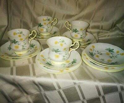 Queens China Part Teaset 16pieces/ Yellow Flowers