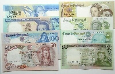 Portugal - 8 Banknotes - All Different - 1964/88 - Aunc