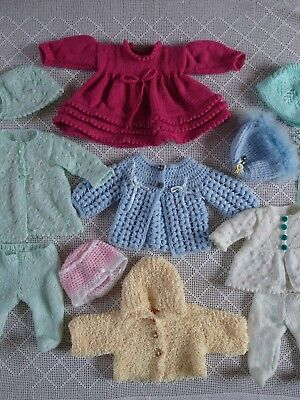 "Vintage Dolls Clothes Hand knitted & Crocheted for 20-22"" Rosebud Roddy Pedigree"