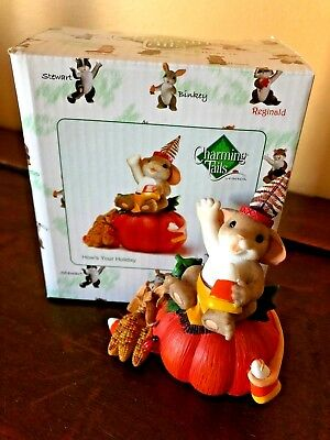 """Charming Tails~""""PUMPKIN, HOW'S YOUR HOLIDAY"""" 2012~Enesco~4027680~MIB"""