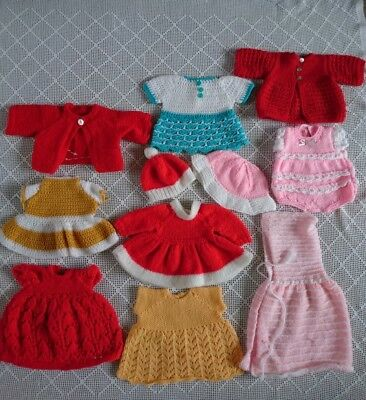 "Vintage Dolls Clothes Hand knitted & Crocheted for 18-19"" Rosebud Roddy Pedigree"