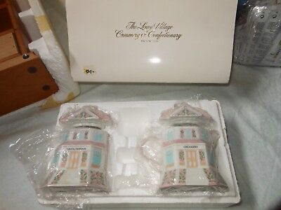 New 1991 Lenox Village Creamery Confectionary House Sugar Bowl Creamer Box Gift