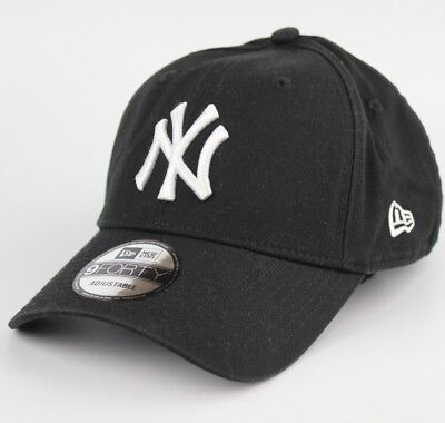 NY New Era Black Baseball Cap 9Forty Adjustable Size