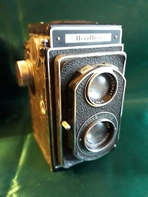 ZEISS IKON IKOFLEX TLR CAMERA WITH ZEISS TESSAR f=7.5 LENS WITH LEATHER CASE