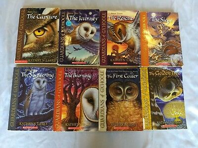 Lot of 8 (#1-6 plus) GUARDIANS OF GA'HOOLE Series Matched Set of Chapter Books