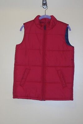 Boy's Lands End Outerwear Red Vest size L 14-16 Great for Winter