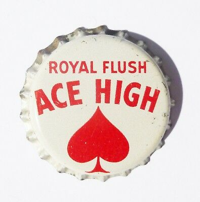 Unused Ace High Royal Flush Cork Bottle Cap Portland, OR   Extremely Rare!!