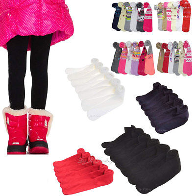 6pcs Baby's Toddler Girl Assorted Design Plain Solid Colors Cool Winter Tights