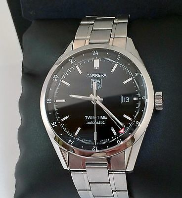 3731901c4c0b Tag Heuer Carrera Calibre 7 Twin Time Mens Automatic Watch Exc.Cond. WV2115