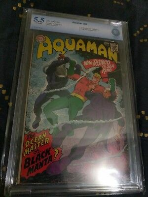 Aquaman #35 CBCS not CGC 5.5 1st appearance of Black Manta! KEY BOOK