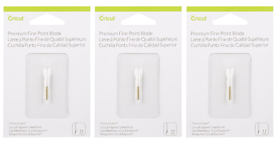 Cricut Premium Fine Point Blade Lot of 3 - 1.1mm - Total of 3 Blades - 2002516