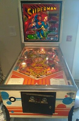 Absolutely Awesome Rare Vintage Superman Pinball Machine