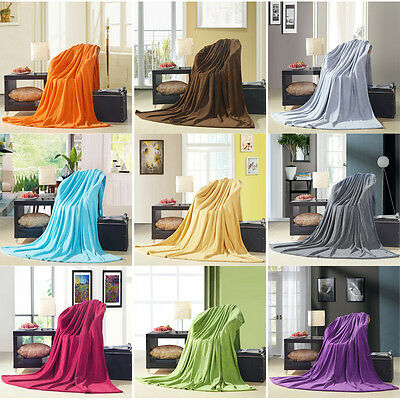 Super Soft Plush Fleece Sofa Bed Cover Warm Blanket Throw Queen/King/Super King