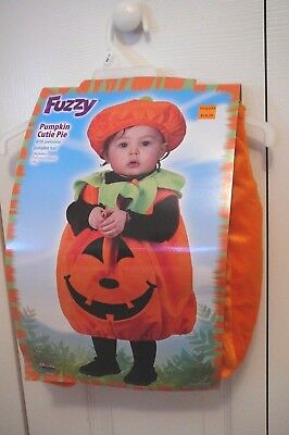 NWT Fuzzy Pumpkin Cutie Pie Halloween Costume Size Up To 24 Months 2 Piece