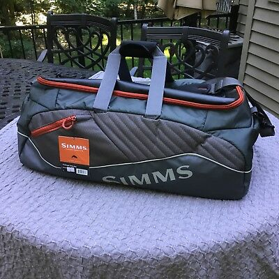 Simms Duffel Challenger Fishing Tackle Bag - L-- New With Tags