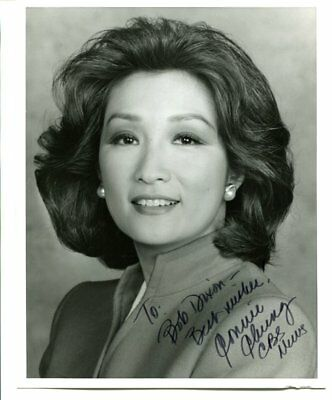 Connie Chung signed 8x10 with COA autograph BBS news A026