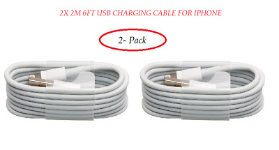 2X / 3X / 5X 2M 6FT OEM USB charging Cable For iPhone 6s Plus 6 5s 7