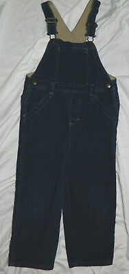 Infants Boys Old Navy Brand Blue Corduroy Overalls size 4T / 24x16