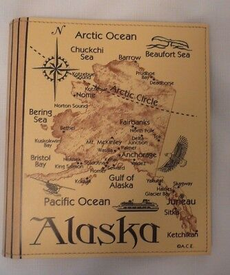 Alaska Leather Album Souvenir Cruise Travel 200 Photos PLUS Memo Writing Cards