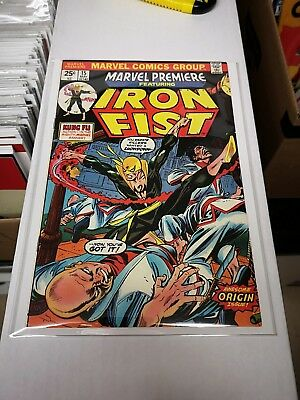 Marvel premiere 15 16 17 19 First Appearance Iron Fist Hot Netflix